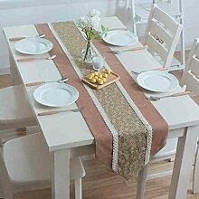 BSNOWF-Tischläufer Floral Table Runner Spitze Esstisch Couchtisch TV Schrank Tischdecken Esstisch Restaurant ( Farbe : A , größe : 35x200cm )