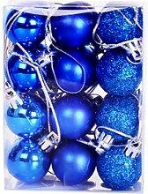 Bstgifts 24 Stück Mini-Weihnachtskugeln für den