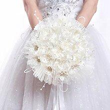 BSTOPSEL Brautstrauß mit Perlen für romantische