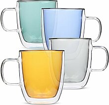 BTäT- Isolierbecher Kaffeebecher Kaffeeglas 4er