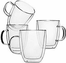 BTaT- Isolierbecher Kaffeeglas groß 4er Set