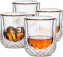 BTaT- Whiskygläser Doppelwandig Bourbon Gläser