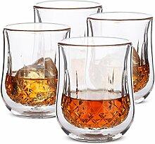 BTaT- Whiskygläser, doppelwandige Gläser, 4er
