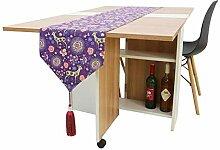 BTBD Lila Tischläufer Bett Flagge für Esszimmer
