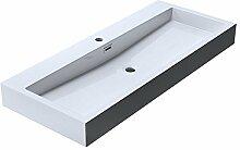 BTH: 100x42x10 cm Design Waschbecken Colossum06,