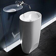 BTH: 40x35x83cm Design Standwaschbecken Colossum32, aus Gussmarmor, Waschtisch, Waschplatz