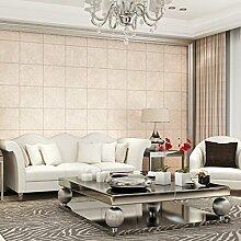 BTJC Einfach tief geprägtes Leder wasserdicht Wand Gitter Persönlichkeit Wohnzimmer Wohnzimmer TV Hintergrund Tapeten , light champagne
