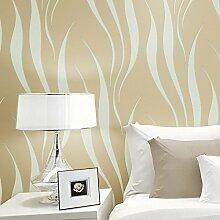 BTJC Einfache 3D Videowand Vliestapete Schlafzimmer/Wohnzimmer TV-Sofa-Hintergrundbild , light yellow