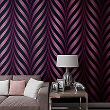BTJC Gestreifte Tapete Schlafzimmer/Wohnzimmer TV Wand Hintergrundpapier Wellpappe Spalte Kurven Perlglanz warme modernen minimalistischen , 123061