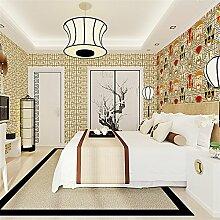 BTJC Großen Plaid neue Veranda klassische Vlies Schlafzimmer Den Restaurants Hotels Wallpaper wallpaper , yellow brown