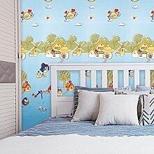 BTJC Kinderzimmer druckt Wandverkleidung Karikaturen nahtlose wasserdichtes Polyestergewebe Vlies Tapete Wandverkleidung