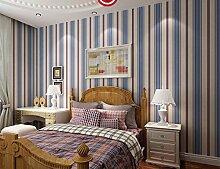 BTJC Moderne Kinder Zimmer Sterne warm rosa Längsstreifen Vlies Tapeten Mädchen junge Schlafzimmerwände , 313101 blue stars