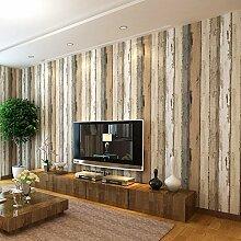 BTJC nicht aus tapete mittelmeerländern im holz tapete 3d hellgrün log farbe schlafzimmer wohnzimmer 10 * 0,53 (m),log - farbe
