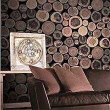 BTJC Nordischen Stil Nachahmung Holz Retrotapeten Wohnzimmer Café Bar Wände Kleidung Shop Tapeten , 2#