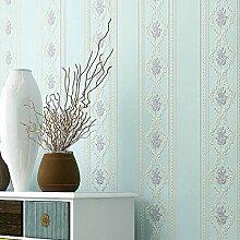 BTJC Prägung Wallpaper Hintergrundbilder Streifen 3D vertikale romantische europäisch anmutenden Garten Schlafzimmer Wohnzimmer Esszimmer Tapeten , 3#
