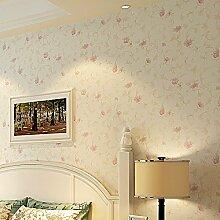 BTJC Rosa Blumen Tapete warme lila Schlafzimmer voll Shop umweltfreundliche Vliestapete Hochzeit , 1#