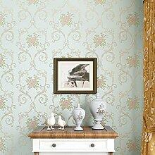 BTJC Tapete Wohnzimmer Schlafzimmer Wände kontinentalen pastorale neue fein geprägte Vliestapeten , green