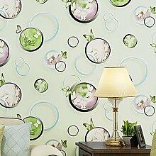 BTJC Vliestapete Butterfly Bubbles Hintergrundbilder Sofa Wohnzimmer Schlafzimmerwände für wallpaper , 123047