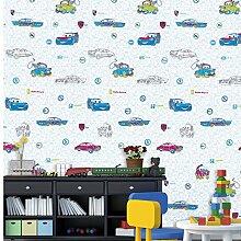 BTJC Wasserfeste Tapeten nahtlose Wandverkleidung Vliesschicht Tapeten-Kinder cartoon