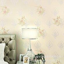 BTJC Zuhause süße Garten 3D Blume Mode Romantisches Schlafzimmer Wohnzimmer Hintergrund Vliestapete , 89022 meters yellow
