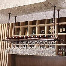 BTJJ Weinglas Halter, Europäische Kreative Wein Becherhalter, Hängende Weinglas Halter, Bar KTV Personalisierte Weinregal (Farbe : Braun, größe : 60*30cm)