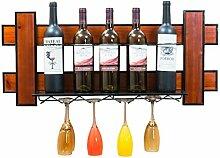 BTPDIAN Wand-Weinregal Dekoration Weinglas Halter