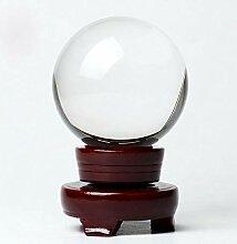 btsky ™ Transparente Glaskugel mit Ständer aus