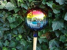 BTV 18 cm, Gartenkugel-Gartendeko Rosenkugel,Glas