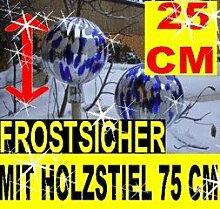 BTV 25 cm, Gartenkugel-Gartendeko Rosenkugel,Glas
