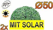 BTV 2X Premium Buchsbaum mit Solarbeleuchtung,