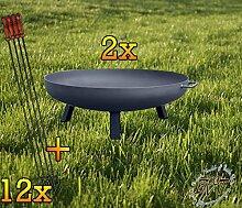 BTV Batovi Set: 2X Feuerschale XXL ca. 66cm für