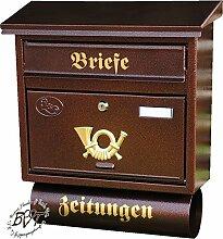 BTV Briefkasten, Premium-Qualität, verzinkt,