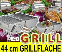 BTV Campingkocher CAMPING GRILL 2 Grillroste Chrom