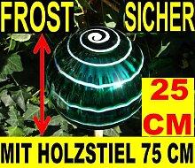 BTV Deko-Gartenkugel 25 cm, Gartenkugel KOMPLETT