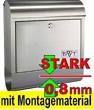 BTV Design Briefkasten, EDELSTAHL MIT EXTRA