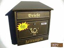 BTV Design Briefkasten W in messing gold metallic
