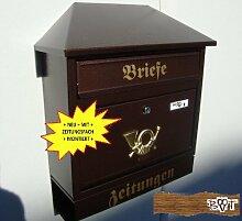 BTV Design Briefkasten W Kupfer kupfern in braun