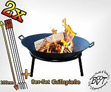 BTV Feuerschale für Grill, Camping, Garten