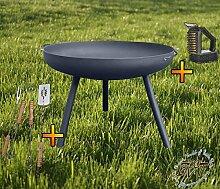 BTV Feuerschale mit Runden Füßen, XXL ca. 72cm
