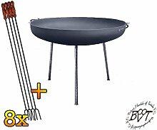 BTV Große Feuerschale XXL ca. 72cm für Grill,
