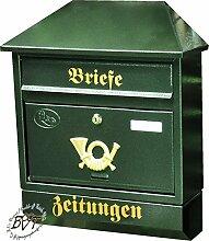 BTV Großer Briefkasten, mit Rostschutz Walmdach