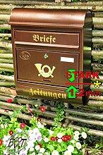 BTV Großer Briefkasten Runddach R Kupfer