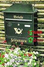BTV Großer Massivstahl-Briefkasten XXL, verzinkt