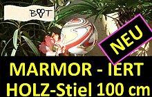 BTV Marmorierte Gartenkugel 100 cm mit Stiel