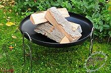 BTV Outdoor Feuerschale + Zubehör - Grill