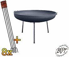 BTV Set Feuerschale mit dünnen Runden Füßen, XL