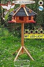 BTV Vogelhaus mit Landebahn + LED -