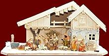 BTV XXL Holzkrippe, Weihnachtskrippe ALPENLAND,