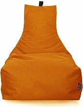 BuBiBag LOUNGE Sitzsack Sitzkissen XXL Tobekissen Bodenkissen Beanbag Kissen, für Kinder und Erwachsene (Orange)
