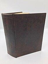 Buch Attrappe retro braun Design Buchtresor Buchversteck Versteck Schmuck